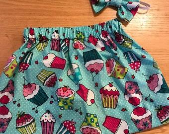 Cupcake  skirt set