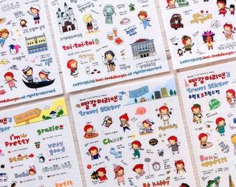 Cute stickers 'travel' | Cute Stationery
