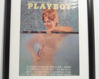 Vintage Playboy Magazine Cover Matted Framed : October 1963 - Teddi Smith