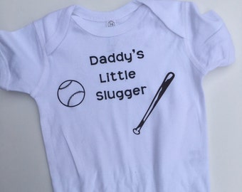 Daddy's little slugger, baseball, baby boy