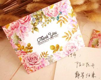 50pcs flower wedding cards, blank card,thank you card