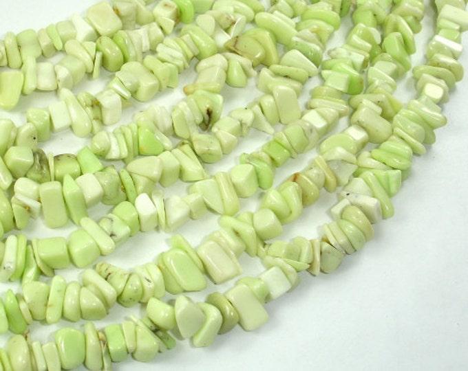 Lemon Chrysoprase Beads, Approx 4mm-10mm Chips Beads, 16 Inch, Full strand, Hole 0.8mm (302005001)