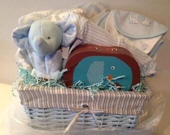 Boy Elephant Basket