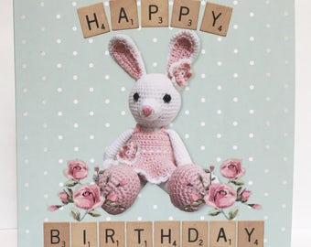 Glitter Crochet Birthday Card -10 Pack