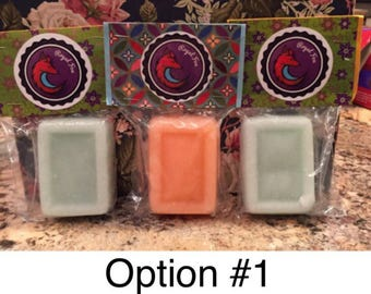 Set of 3 Sugar Scrub Soap Bars