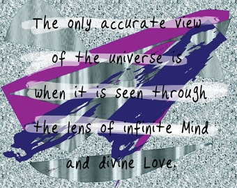An Accurate View Of The Universe. Giclee .Inspirational Words & Art Print, Spiritual Art, Religious Art, Inspirational Quotes, Love,Wall Art