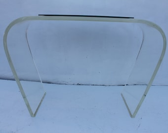 Waterfall Lucite Console Table .