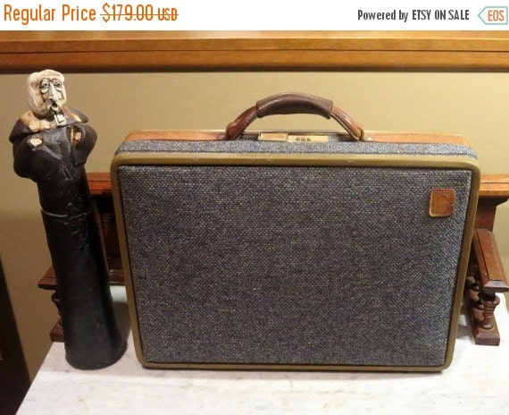 Football Days Sale Hartmann Tweed And Belting Leather Briefcase - Very Good Condition