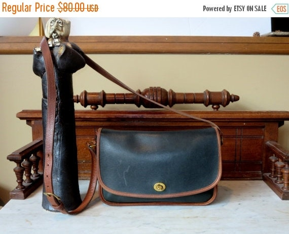 Football Days Sale Coach City Bag Spectator Black And Tabac Style No 6790- U.S.A. Made- Very Good Condition