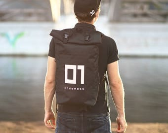 Reflective Roll Top Backpack / Visible in the Dark RollTop Bag