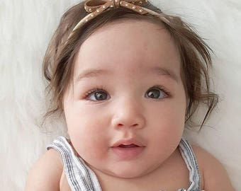 Nylon headband, toddler headband, bow headband, baby headband, infant headband, suede bow headband, newborn headband, photo prop