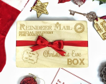 Personalised Christmas eve box wooden