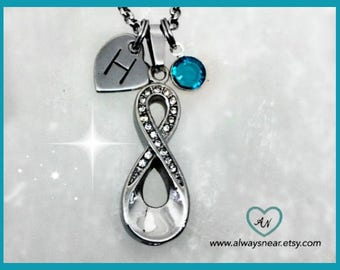 Cremation jewelry, Infinity ashes necklace, in memory of,  Cremation pendant, Cremation necklace, Cremation urn, ashes jewelry
