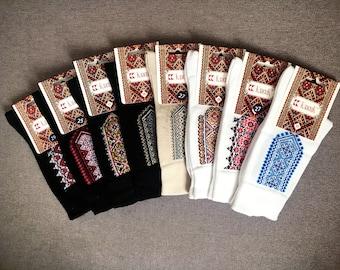 Set of 3 pairs, socks for men, cotton socks, socks Ukrainian with embroidery.