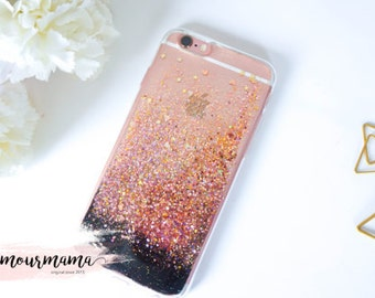 iphone 7 case Rose Gold Ombre iphone 7 plus case iphone 6s case iphone 6 case iphone 6s plus case iphone 6 plus case iphone 5 case sparkle