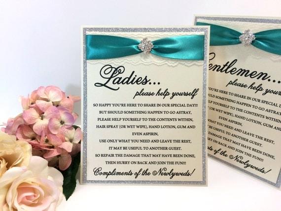Bathroom Signs Silver elegant free standing wedding bathroom signs. silver emerald