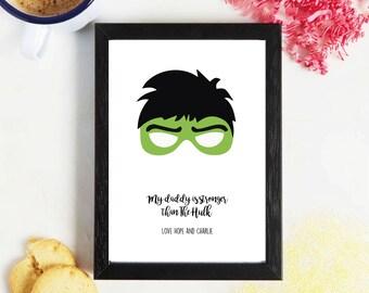Fathers Day - Super Hero - Hulk - Gift
