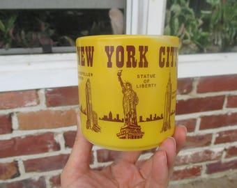 60's NYC souvenir mug, vintage mug,  Yellow mug, Fire King, NYC Coffee Mug, 1960s, New York City, Souvenir mug, Collector's Gift