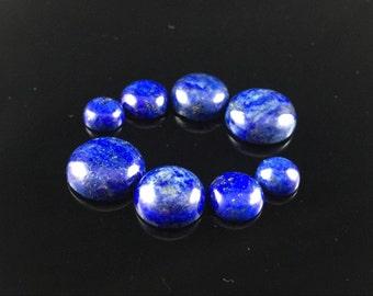 10pcs Natural Lapis Cabochon Round Lapis Lazuli Gemstone Cabochon Blue Lapis Gemstone Semi Precious Cabs 8mm 10mm 12mm 14mm 16mm GC