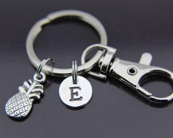 Foodie Gift Pineapple Keychain Pineapple Charm Keychain Pineapple Charm, Pineapple Pendant, Pineapple Jewelry, Personalized Keychain