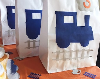 Train Party Favor Bags - Train Theme Party - Train Birthday - The Train Birthday - Train Birthday Party - Train Favor Bags - Trains