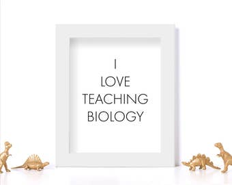 Biology Teacher Gift Digital Download