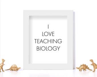 Biology Teacher Gift Digital Download