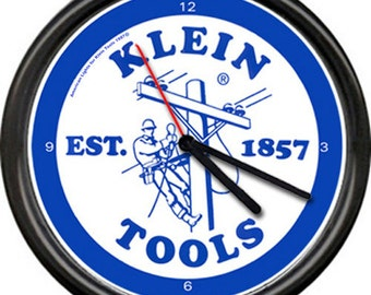 Klein Tools Electrician Tool Lineman Electrical Repair Utility Company Sign Wall Clock