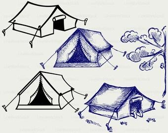 Tourist tent svg,tent clipart,tent svg,tourist tent silhouette,tent cricut,tent cut files,tent clip art,digital download designs,svg,dxf