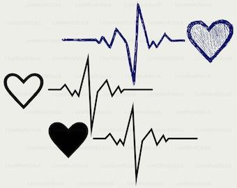 Heartbeat svg,heartbeat clipart,heartbeat svg,heartbeat silhouette,heartbeat cricut cut files,clip art,digital download designs,svg,dxf