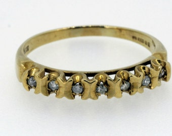 Vintage 9ct Gold Diamond Ring - 20% OFF SALE
