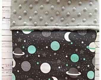 SALE: Handmade Minky Blanket, Bassinet Blanket, Pram Blanket, Baby Shower
