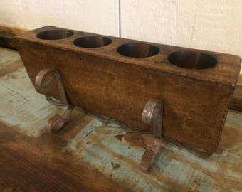 4 Hole Sugar Mold with Stands