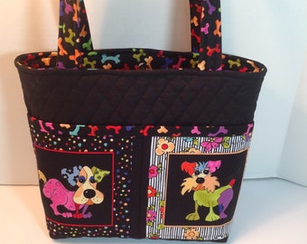 4 Pocket Quilted Dog Purse