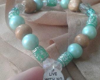 Live With No Regrets Bracelet