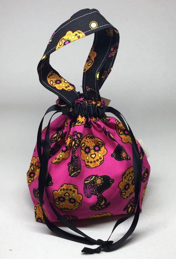 Small Lizzie Drawstring Bag _ Snoopy Sugar Skull