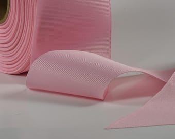 """2 1/4"""" Light Pink Ribbon By the Yard 50 cents per yard 2.25"""" wide"""