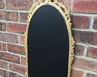 Gold ornate chalkboard wedding menu vintage chalkboard