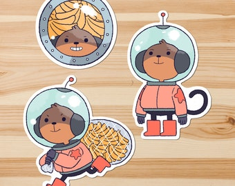 Moon Monkey Stickers *Pack of 3*