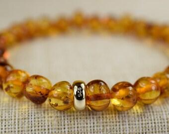 Amber bracelet, Baltic Amber, Amber bracelet for Adult Men and Women, Baltic Amber Bracelet, Genuine Baltic Amber, Amber stone bracelet