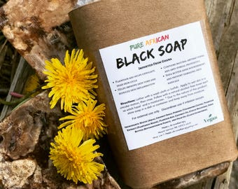 Two (2) African Black Soap, Black African Soap, African Soap, Black Soap, Black Soap Shampoo, Raw Black Soap, Natural Soap, Shampoo Bar, 4oz