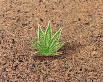 Marijuana Leaf Hat Pin