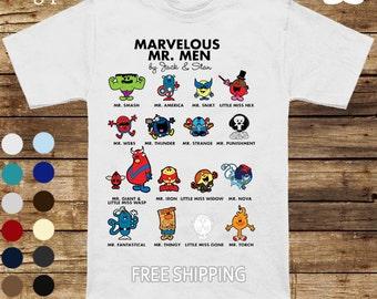 Marvelous Mr Men Tee (Mr Men x Avengers)