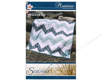 PATTERN - Maritime Zigzag Quilt Pattern #MMM-PAT-0070 by McKay Manor Musers