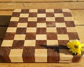Checkerd Cutting Board