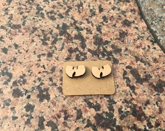 Wu-Tang Clan Earring Laser Engraved Hip Hop Earrings Music Stud Super Star Wooden Earring Handmade Earring X 1 Pair