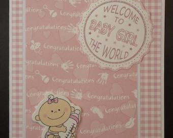 Cute Baby Girl Card 1528