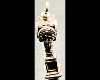 Birks Sterling Silver Bracelet Charm Grandfather Clock   925 5.8 Grams Heavy Solid
