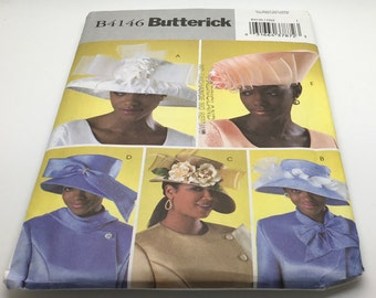 Butterick Sewing Pattern  B4146 B 4146 Fascinator Evening Cocktail Millinary Pillbox Feather Church Hat Dress Hut Derby Hat Uncut New FF