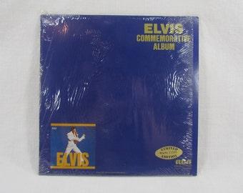 Elvis Presley Blue Commemorative Album Double Gold Album Set Limited Edition